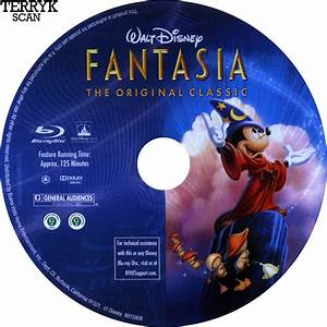 fantasia blu ray dvd label 1940 With dvd case labels