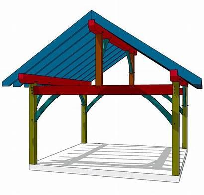 Timber Frame King 16x16 Plan Shed Pergola