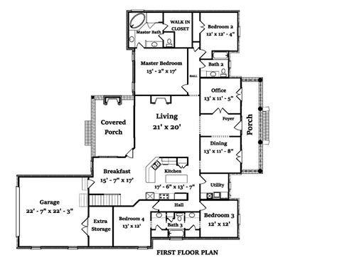 5 Bedroom 4 Bath Coastal House Plan #ALP 1A4F