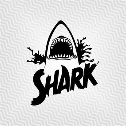 Shark Svg Cricut Vector Jaw Silhouette