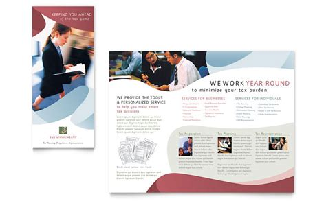 tax accounting services brochure template word publisher