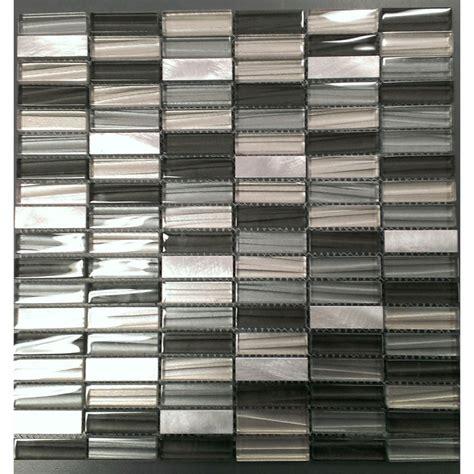 johnson wall tile 238x328mm c coal glass mosaic bunnings