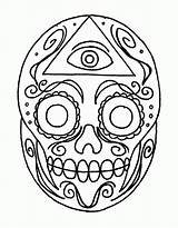 Skull Sugar Coloring Pages Easy Simple Skulls Drawings Deviantart Template Designs Cute Popular Colored Alien Library Clipart Coloringhome Line sketch template