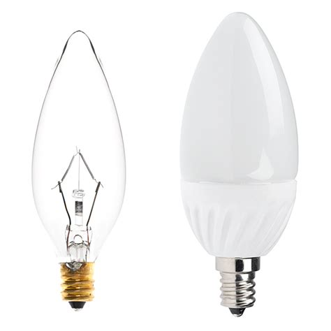 candelabra led bulb blunt tip candle shape b10 bulb