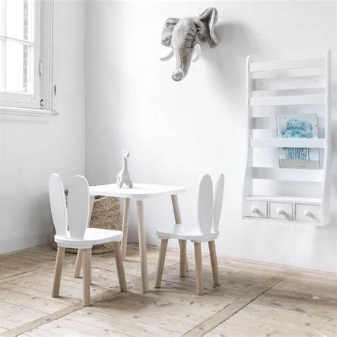 chaises et table enfant lapin blanc am 233 lie chaise table