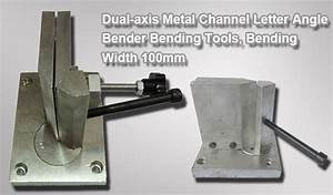 dual axis metal channel letter angle bender 100mm strips With manual channel letter bender
