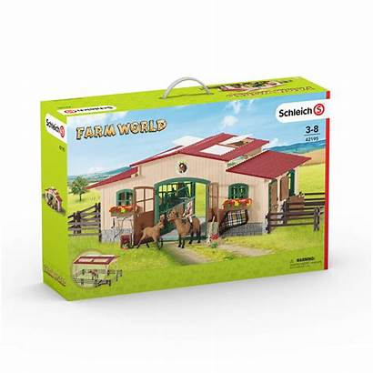 Schleich Stable Farm Play Horses
