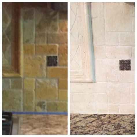 kitchen lighten  painting  tumbled stone