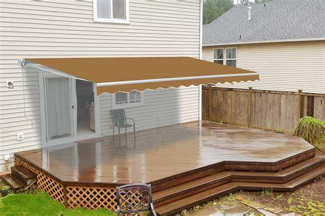 retractable patio awning sand aleko