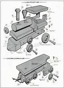 Wooden Toy Train Plans • WoodArchivist