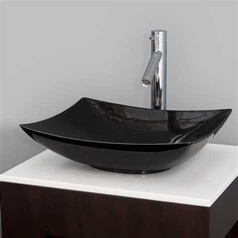 Black Modern Bathroom Sinks by Arista Vessel Sink By Wyndham Collection Black Granite