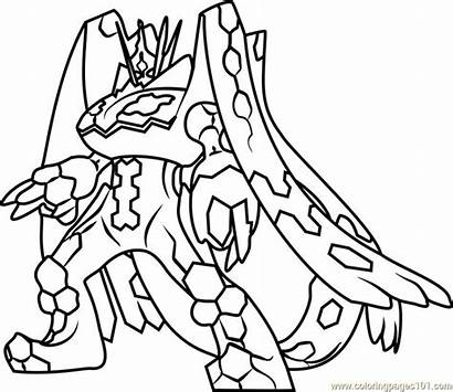 Pokemon Coloring Zygarde Pages Moon Sun Complete