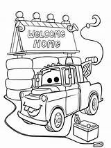 Coloring Pages Mater Tow Alone Welcome Mcqueen Cars Lightning Printable Colouring Drawing Oh Daddy Disney Coloringhome Getcolorings Movies Face Getdrawings sketch template