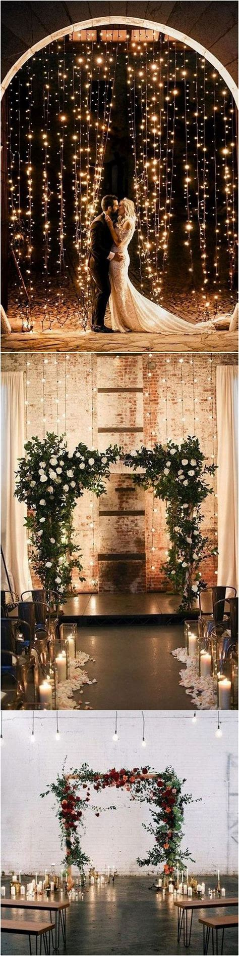 whimsical winter wedding arches  backdrops