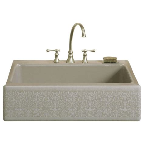 kohler dickinson farmhouse sink kohler dickinson farmhouse apron front cast iron 33 in 4
