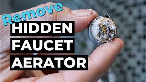 remove water faucet hidden aerator delta youtube