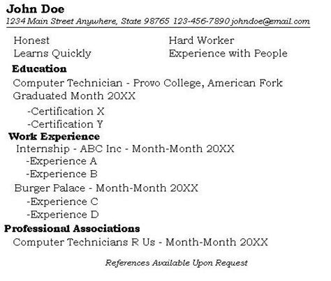 How Many Years Of Experience To Put On A Resume by Resumes Provo College Library
