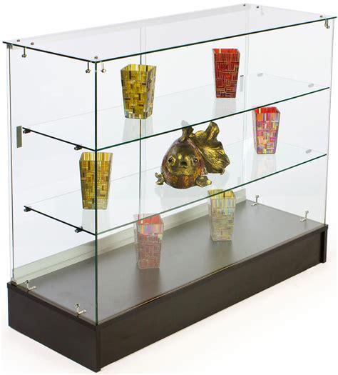 4 Glass Counter Black Melamine Base