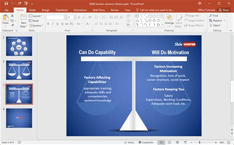 hr ppt templates free free human resource factors powerpoint template