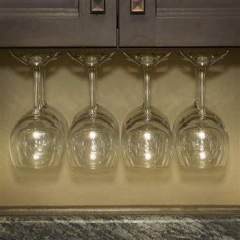 wine glass holder cabinet wine glass rack under cabinet stemware holder holds 6 to