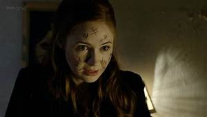"Amy Pond with Silence marks in ""The Impossible Astronaut ..."