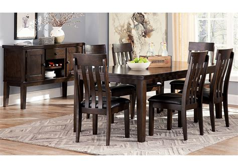 rectangle dining room table compass furniture haddigan dark brown rectangle dining