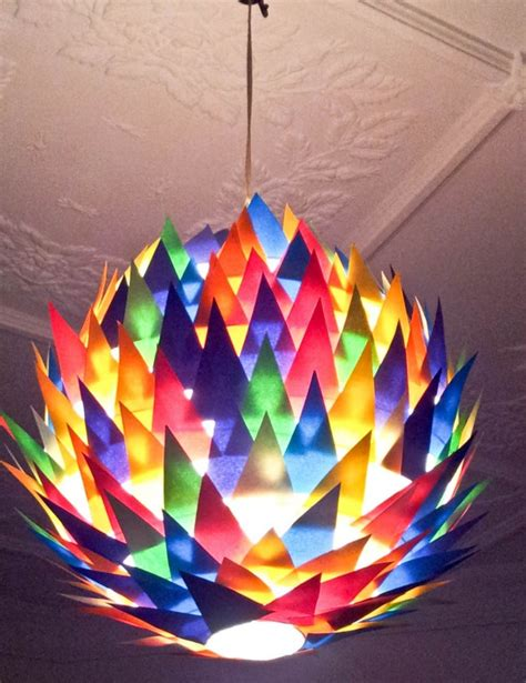 artistic handmade paper lampshades