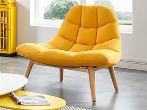 fauteuil jaune dore pas cher confort en tissu ou en cuir With tapis jaune avec canape cuir vente privee