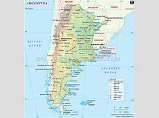 Political Map of Argentina Argentina Provinces Map