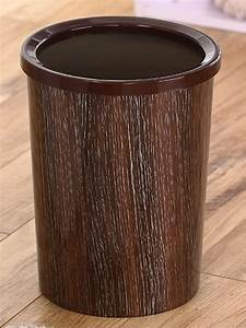 Amazon, Com, Indoor, Plastic, Imitation, Wood, Grain, Round, Trash, Can, Bedroom, Office, Kitchen, Trash, Can