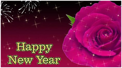 happy  year ecard  rose  happy  year ecards