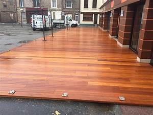 Installer Une Terrasse En Bois : installer une terrasse bois par un menuisier proche etretat 76 peinture menuiserie et ~ Farleysfitness.com Idées de Décoration