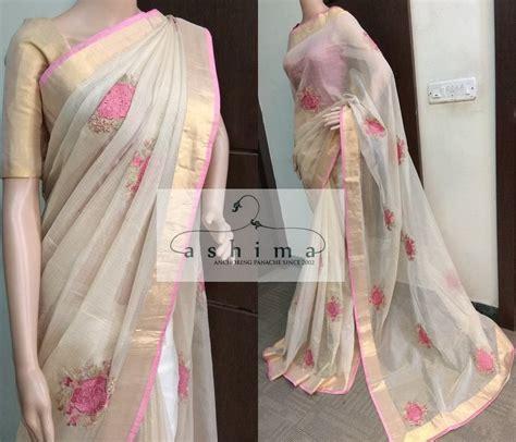 Code2703181 Price Inr9900 Embroidered Tissue Saree