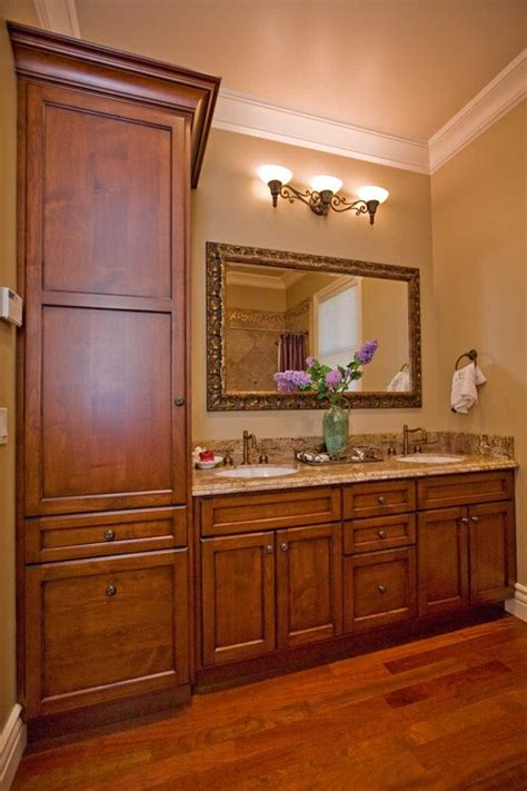 bathroom vanity with tall cabinet how wide is the vanity including tall cabinet thanks