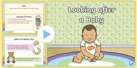 Cfe (first) Looking After A Baby Powerpoint  Health, Wellbeing