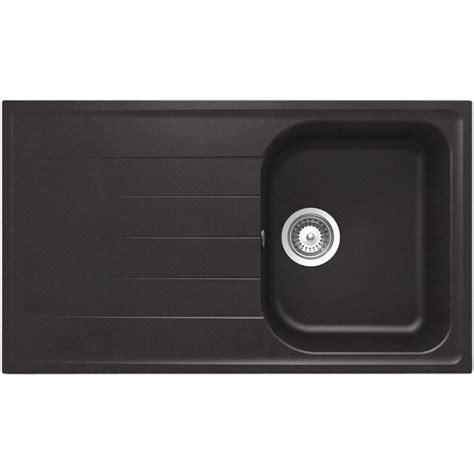 lavello schock lavello schock lithos d150 a 1 vasca cristalite nero mat