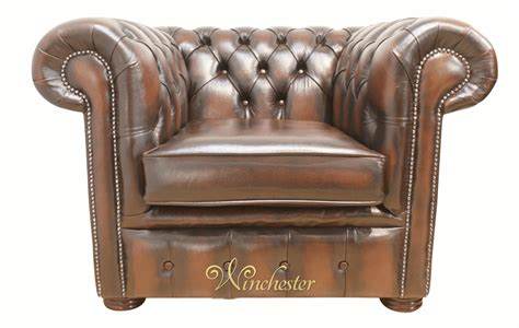 chesterfield club chair antique brown leather wc gif