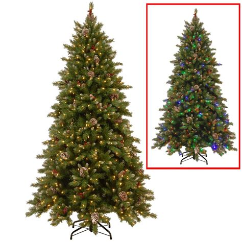 national tree company 9 ft powerconnect snowy berry