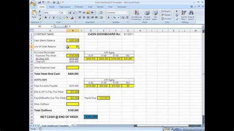 minimize cash flow confusion   cash dashboard