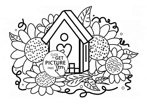 Free Coloring Pages Of Flowers For Kids
