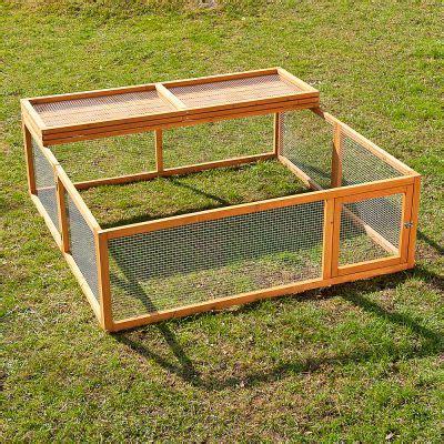 enclos interieur pour lapin outback springtime grand mod 232 le enclos pour rongeur et lapin en bois zooplus