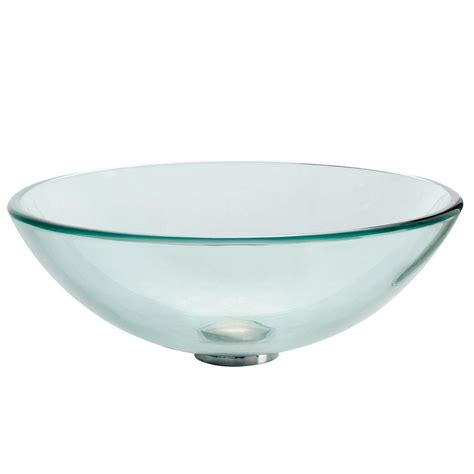 Vessel Sinks Home Depot by Kraus Glass Vessel Sink In Clear Gv 101 The Home Depot