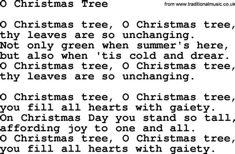 catholic hymns song o christmas tree lyrics and pdf