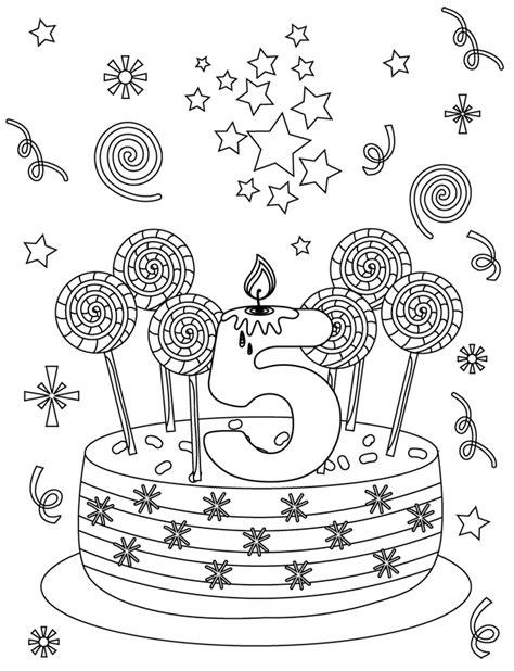 Carte D'anniversaire 5 Ans  Doryfr Coloriages