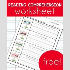 Free Reading Comprehension Worksheet  Free Homeschool Deals