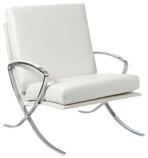 pietro white accent chair contemporary living room