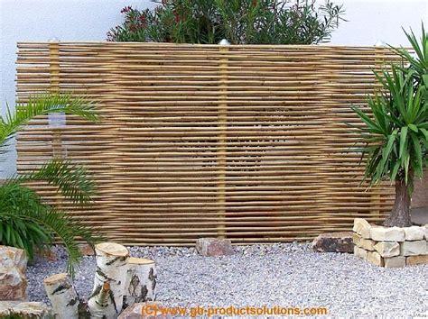 garten sichtschutz bambus bambus sichtschutz eleganter bambuszaun gh product solutions bepflanzung beispiel