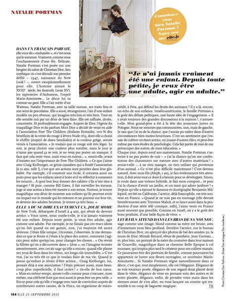 Natalie Portman Covers Elle France Photo
