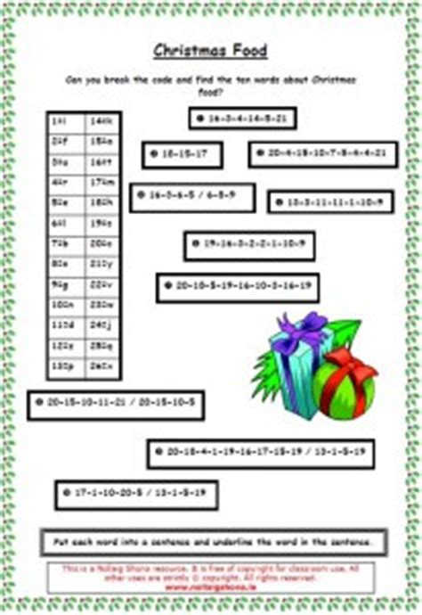 christmas code breaker 01 171 christmas resources for teachers nollaig shona from seomra ranga