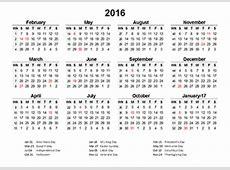 2016 Retail Accounting Calendar 445 Free Printable